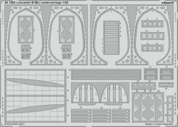 Lancaster B Mk.I - Undercarriage [HKM] · EDU 481062 ·  Eduard · 1:48