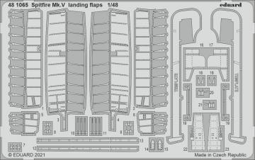 Spitfire Mk.V - Landing flaps [Eduard] · EDU 481065 ·  Eduard · 1:48
