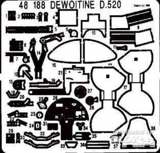 Dewoitine D-520 · EDU 48188 ·  Eduard · 1:48