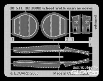 Messerschmitt Bf 109 E - Wheel wells canvas cover [Tamiya] · EDU 48511 ·  Eduard · 1:48