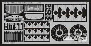 B-25G Mitchell - Exterior [Accurate Miniatures] · EDU 48524 ·  Eduard · 1:48