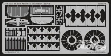 B-25B Mitchell - Exterior [Accurate Miniatures] · EDU 48525 ·  Eduard · 1:48
