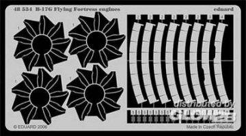 B-17G Flying Fortress - Engines [Revell] · EDU 48534 ·  Eduard · 1:48