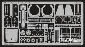 Wyvern S.4 wheel wells für Trumpeter Bausatz · EDU 48541 ·  Eduard · 1:48