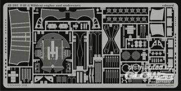 F4F-4 Wildcat engine and undercarr. für Hobby Boss Bausatz · EDU 48592 ·  Eduard · 1:48