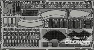 CH-47C/HC-1 Chinook exterior für Italeri Bausatz · EDU 48601 ·  Eduard · 1:48
