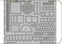 F-100C - Exterior [Trumpeter] · EDU 48639 ·  Eduard · 1:48