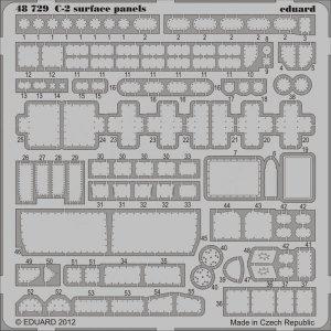 C-2 - Surface panels S.A. [Kinetic] · EDU 48729 ·  Eduard · 1:48