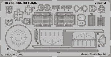 MiG-23 - F.O.D. [Trumpeter] · EDU 48758 ·  Eduard · 1:48