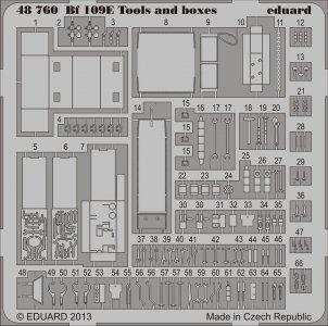 Messerschmitt Bf 109 E - Tools and boxes · EDU 48760 ·  Eduard · 1:48