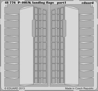 P-40E/K KittyHawk - Landing flaps [Italeri] · EDU 48776 ·  Eduard · 1:48