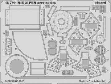 MiG-21PFM accessories [Eduard] · EDU 48790 ·  Eduard · 1:48