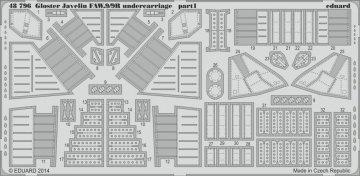 Gloster Javelin FAW.9/9R - Undercarriage [Airfix] · EDU 48796 ·  Eduard · 1:48