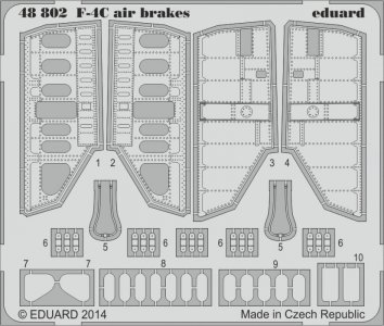 Phantom F-4C - Air brakes [Academy] · EDU 48802 ·  Eduard · 1:48