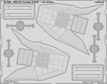 MiG-25 Foxbat - Air intakes & - F.O.D. [Kitty Hawk] · EDU 48808 ·  Eduard · 1:48