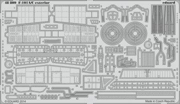 F-101A/C - Exterior [Kitty Hawk] · EDU 48809 ·  Eduard · 1:48