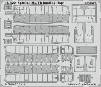 Spitfire Mk.V - Landing flaps [Airfix] · EDU 48822 ·  Eduard · 1:48