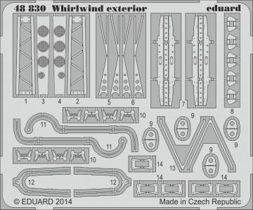 Westland Whirlwind - Exterior [Trumpeter] · EDU 48830 ·  Eduard · 1:48