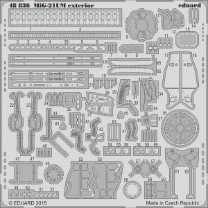 MiG-21UM - Exterior [Trumpeter] · EDU 48836 ·  Eduard · 1:48