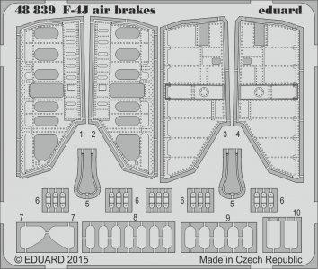 F-4J Phantom - Air brakes [Academy] · EDU 48839 ·  Eduard · 1:48