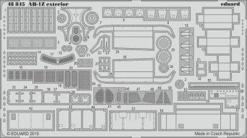 AH-1Z Viper - Exterior [Kitty Hawk] · EDU 48845 ·  Eduard · 1:48