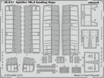 Supermarine Spitfire Mk.I - Landing flaps [Airfix] · EDU 48847 ·  Eduard · 1:48