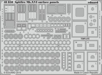 Spitfire Mk.XVI - Surface panels [Eduard] · EDU 48850 ·  Eduard · 1:48