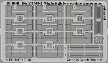 Dornier Do 215 B-5 Nightfighter radar antennas [ICM] · EDU 48868 ·  Eduard · 1:48