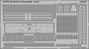 SBD-5 Dauntless - Landing flaps [Eduard] · EDU 48870 ·  Eduard · 1:48