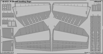 P-400 Air Cuttie - Landing flaps [Eduard] · EDU 48872 ·  Eduard · 1:48