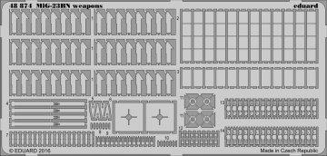 MiG-23BN - Weapons [Trumpeter] · EDU 48874 ·  Eduard · 1:48
