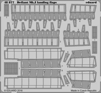Defiant Mk.I - Landing flaps [Airfix] · EDU 48877 ·  Eduard · 1:48
