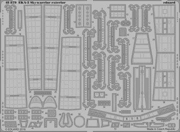 EKA-3 Skywarrior - Exterior [Trumpeter] · EDU 48879 ·  Eduard · 1:48