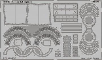 Gloster Meteor F8 - Engines [Airfix] · EDU 48883 ·  Eduard · 1:48