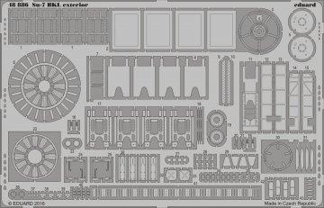 Su-7 - Exterior [SMER] · EDU 48886 ·  Eduard · 1:48