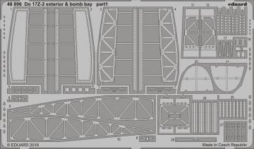 Dornier Do 17 Z-2 - Exterior & - Bomb bay [ICM] · EDU 48896 ·  Eduard · 1:48