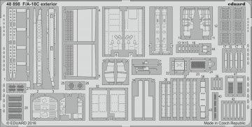 F/A-18C - Exterior [Kinetic] · EDU 48898 ·  Eduard · 1:48