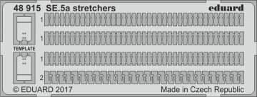 SE.5a Wolseley Viper - Stretchers [Eduard] · EDU 48915 ·  Eduard · 1:48