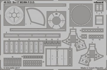 Sukhoi Su-17 M3/M4 - F.O.D. [Kitty Hawk] · EDU 48923 ·  Eduard · 1:48