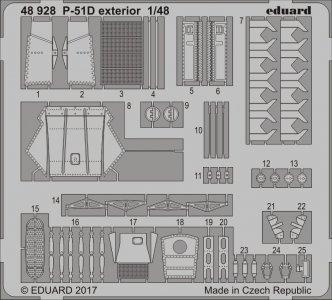 P-51D Mustang - Exterior [Meng Model] · EDU 48928 ·  Eduard · 1:48