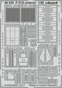 North American P-51-D Mustang - Exterior [Airfix] · EDU 48930 ·  Eduard · 1:48