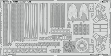 Su-17M4 Fitter-K - Exterior [HobbyBoss] · EDU 48931 ·  Eduard · 1:48