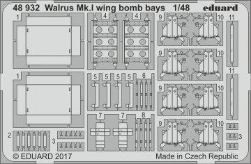 Supermarine Walrus Mk.I - Wing - Bomb bays [Airfix] · EDU 48932 ·  Eduard · 1:48