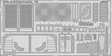 Suchoi Su-35 - Flanker E - Exterior [Kitty Hawk] · EDU 48934 ·  Eduard · 1:48