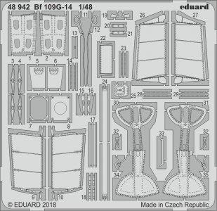 Messerschmitt Bf 109 G-14 - Photoätzteile [Eduard] · EDU 48942 ·  Eduard · 1:48