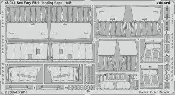 Hawker Sea Fury FB.11 - Landing flaps [Airfix] · EDU 48944 ·  Eduard · 1:48