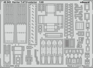 Harrier T.4/T.8 - Exterior [Kinetic] · EDU 48945 ·  Eduard · 1:48