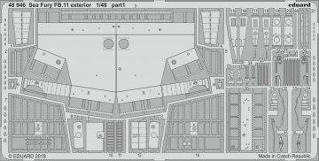 Hawker Sea Fury FB.11 - Exterior [Airfix] · EDU 48946 ·  Eduard · 1:48