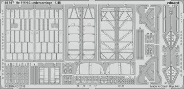 Heinkel He 111 H-3 - Undercarriage [ICM] · EDU 48947 ·  Eduard · 1:48
