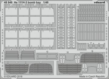 Heinkel He 111 H-3 - Bomb bay [ICM] · EDU 48948 ·  Eduard · 1:48